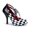 HARLEQUIN-03 Black/White Patent